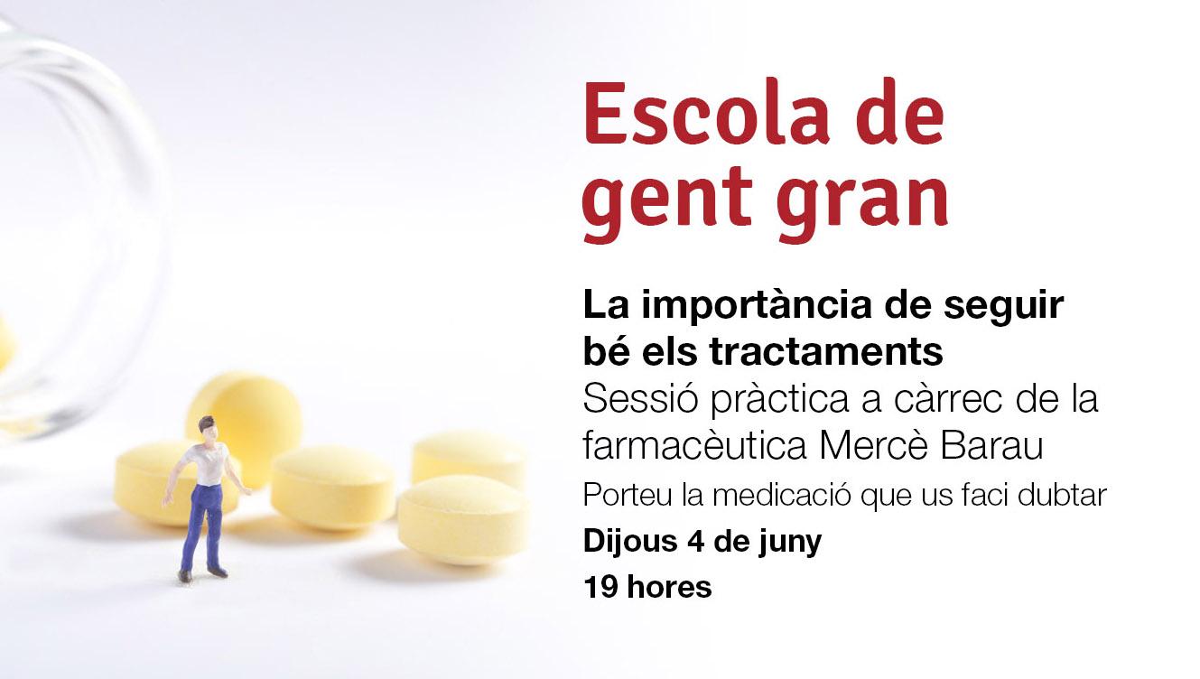 Xerrada d'escola de gent gran CAP Vallcarca Sant Gervasi: el bon ús dels medicaments