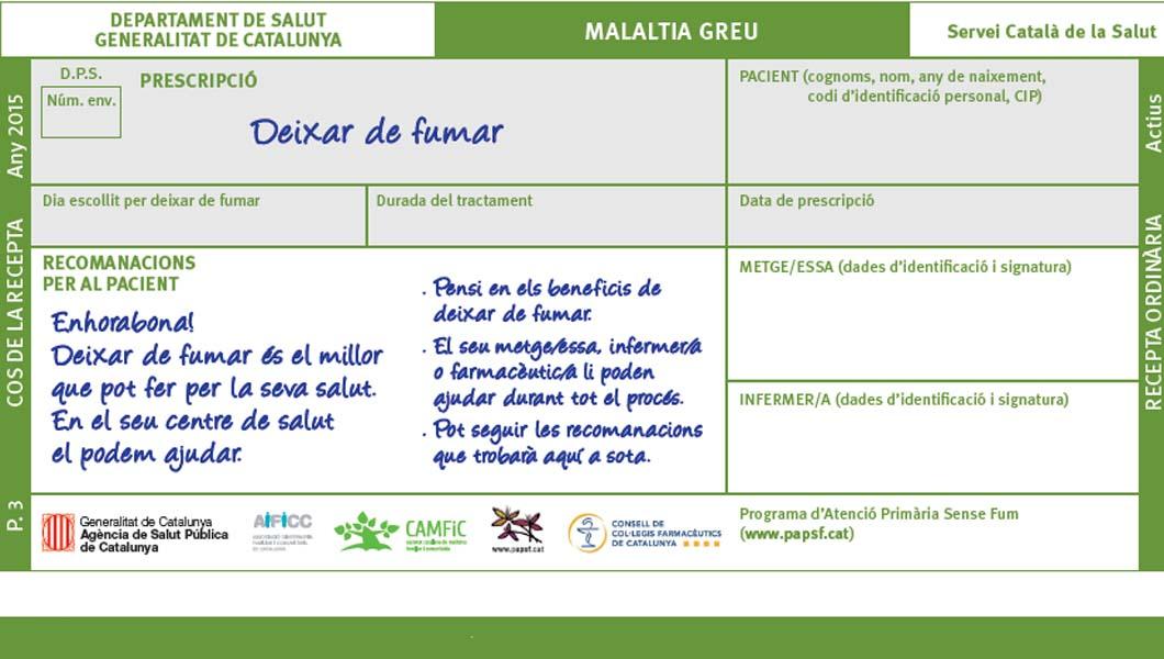 Setmana sense fum 2016 - Atenció Primària Vallcarca Sant Gervasi