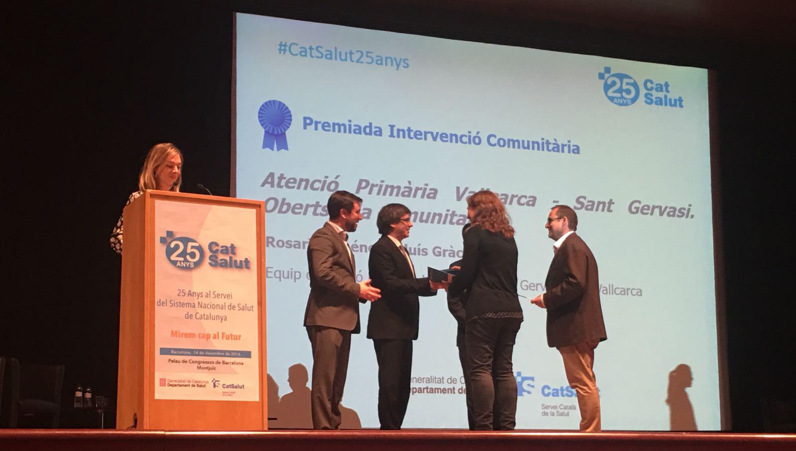 Premi a la millor intervenció en comunitària - Atenció Primària Vallcarca Sant Gervasi