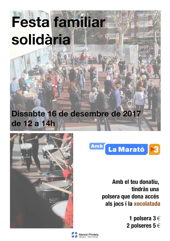 Festa solidària amb la marato 2017 - Atenció Primària Vallcarca - Sant Gervasi