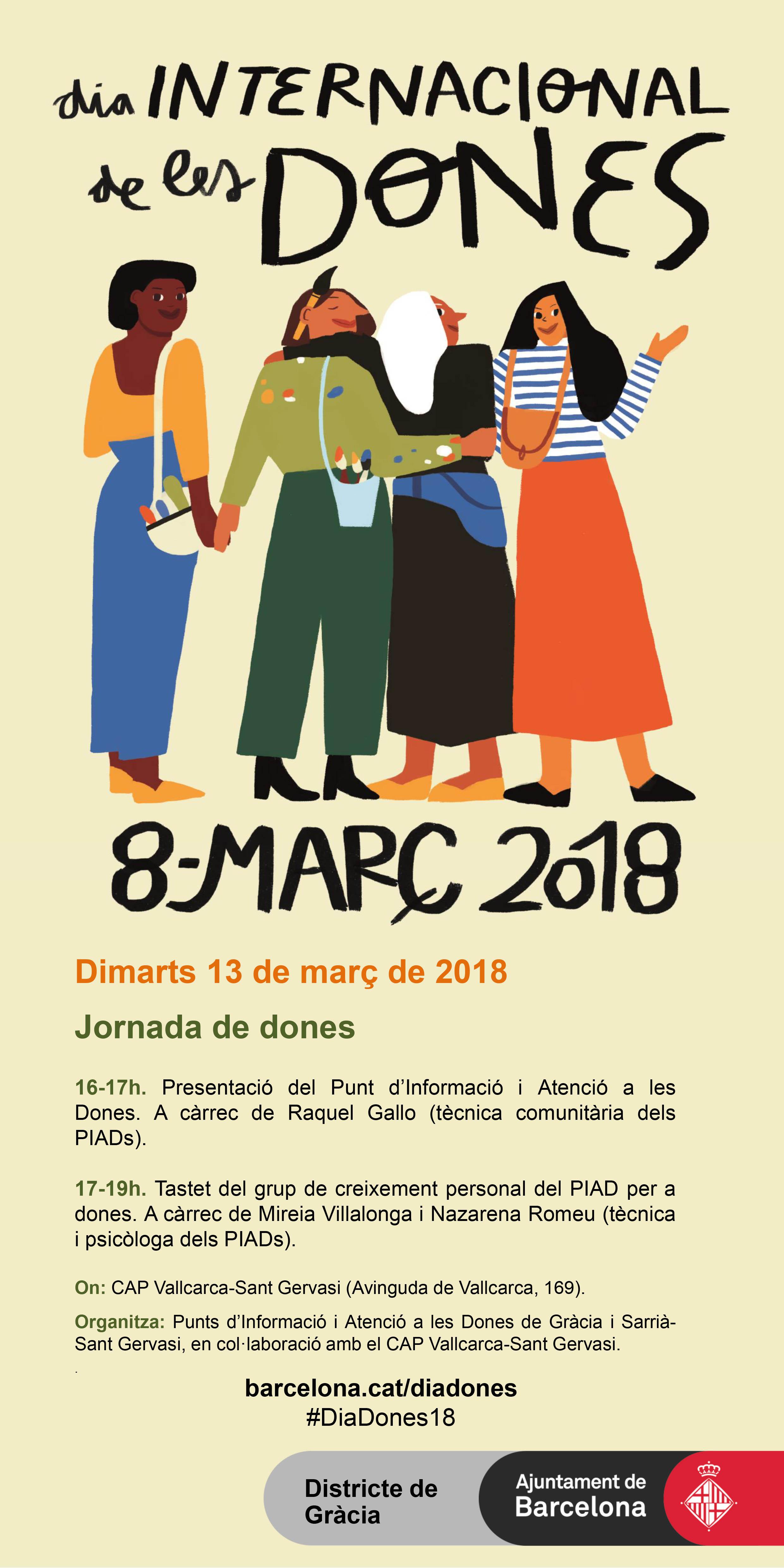 Dia internacional de les dones 2018 - Atenció Primària Vallcarca - Sant Gervasi