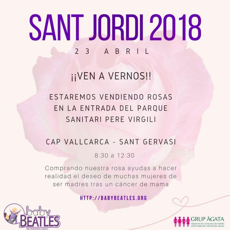 Venda solidària de roses per Sant Jordi