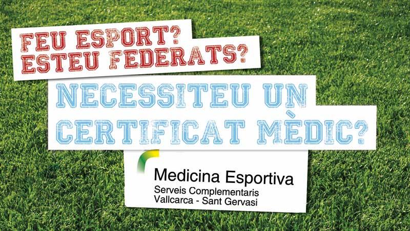 Certificat mèdic esportiu - Serveis Complementaris