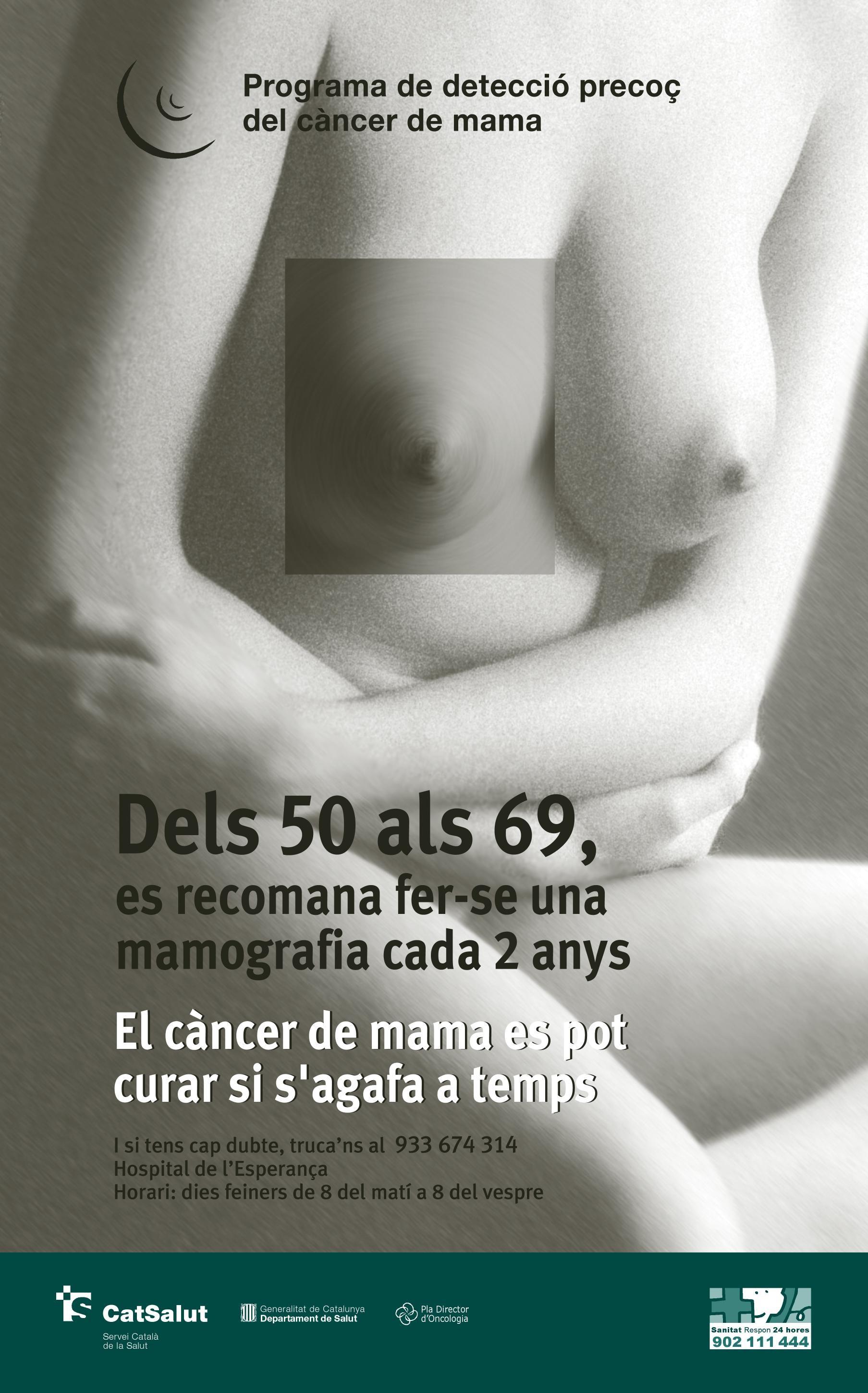 Cribratge càncer de mama - Atenció Primària Vallcarca Sant Gervasi