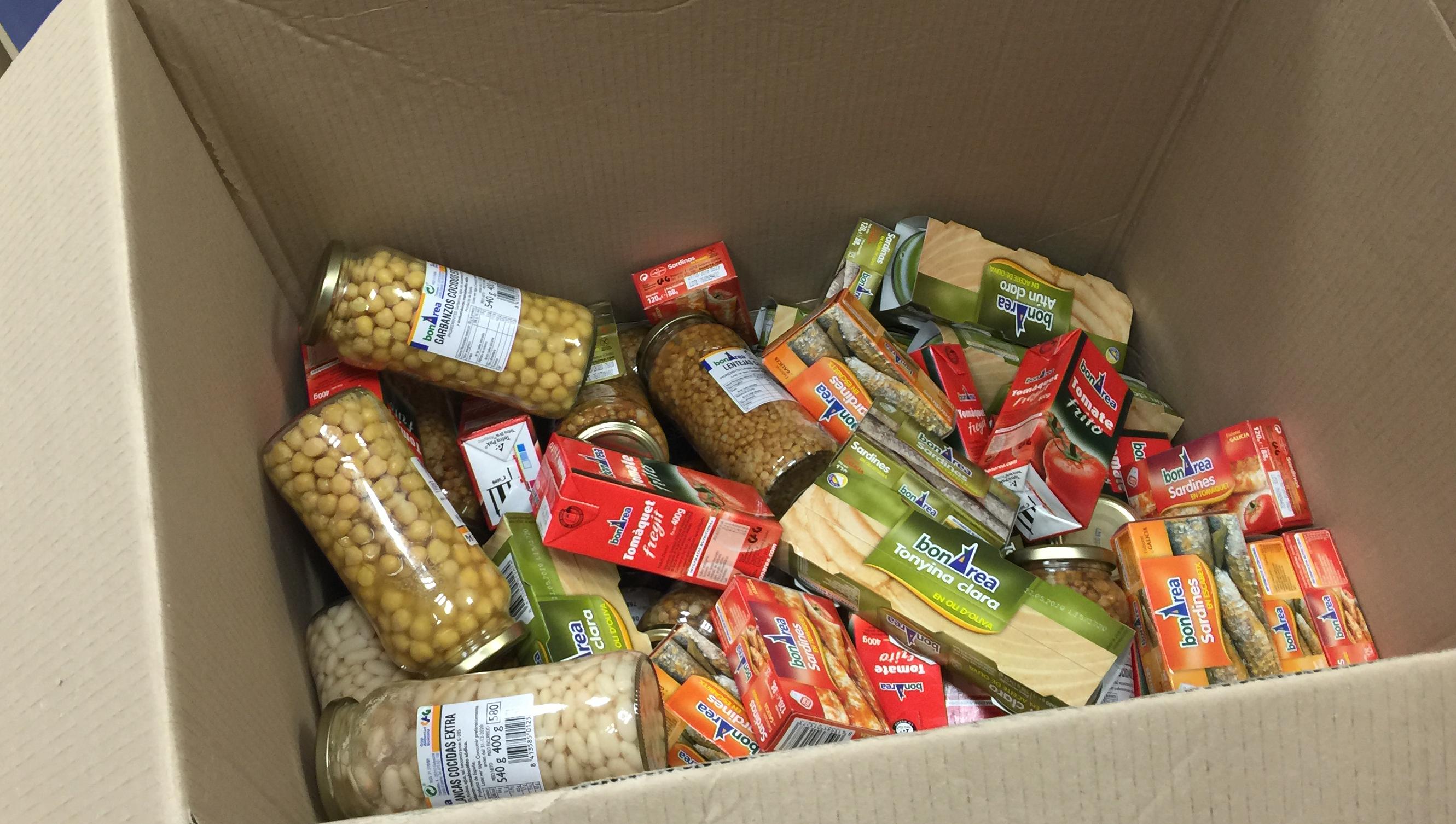 recollida solidària d'aliments CAP Vallcarca Sant Gervasi