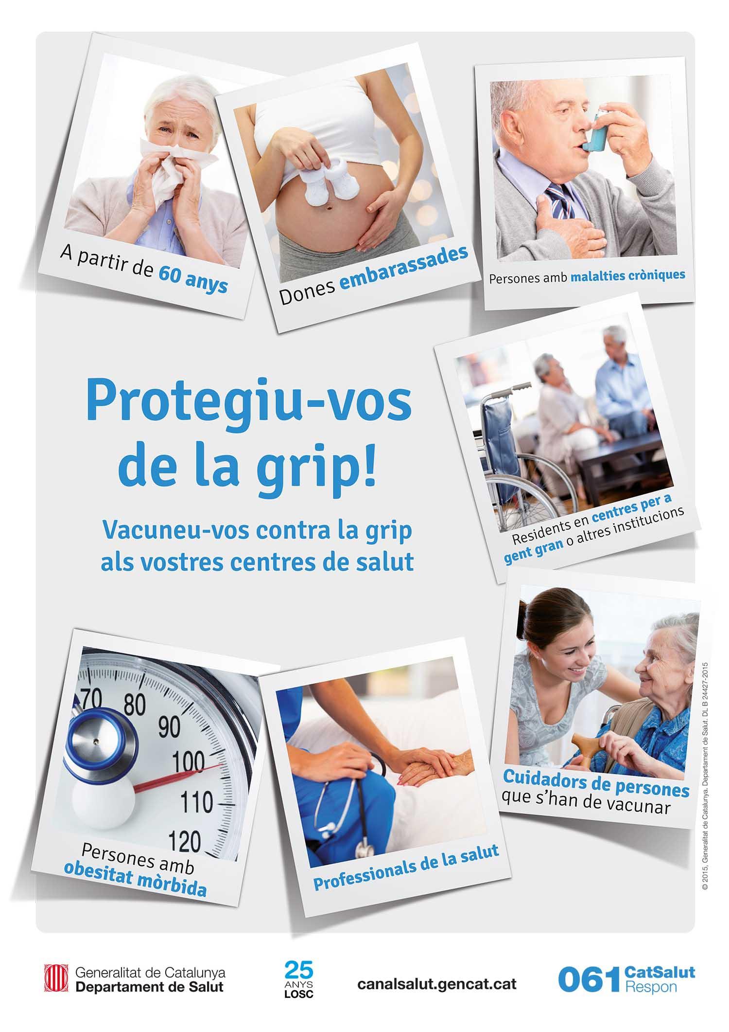Vacunació contra la grip CAP Vallcarca Sant Gervasi