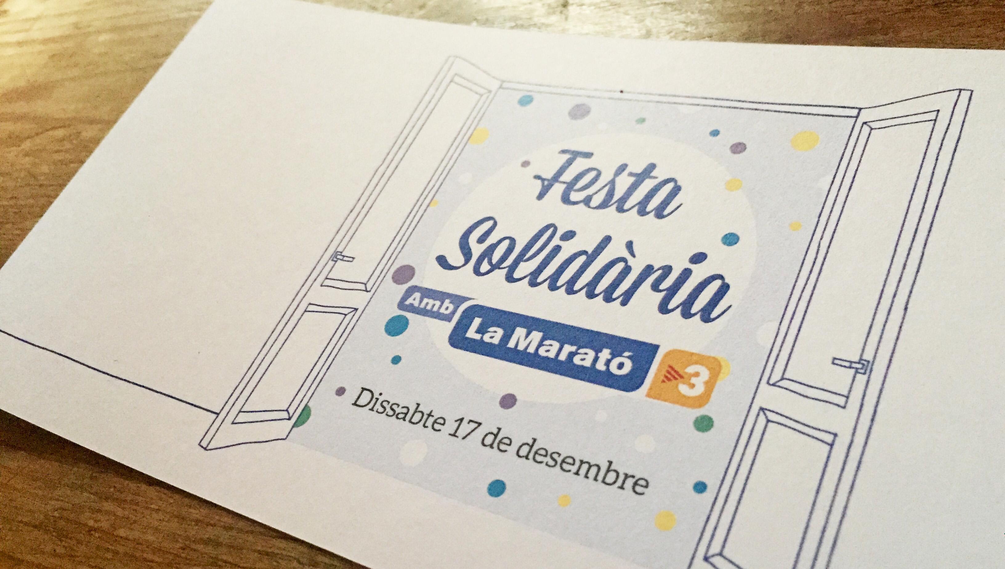 Programa de la fiesta solidaria con la Marató de TV3