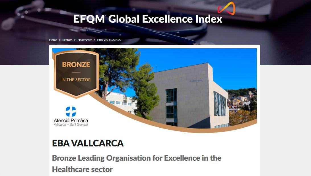 Acreditació EFQM EBA Vallcarca
