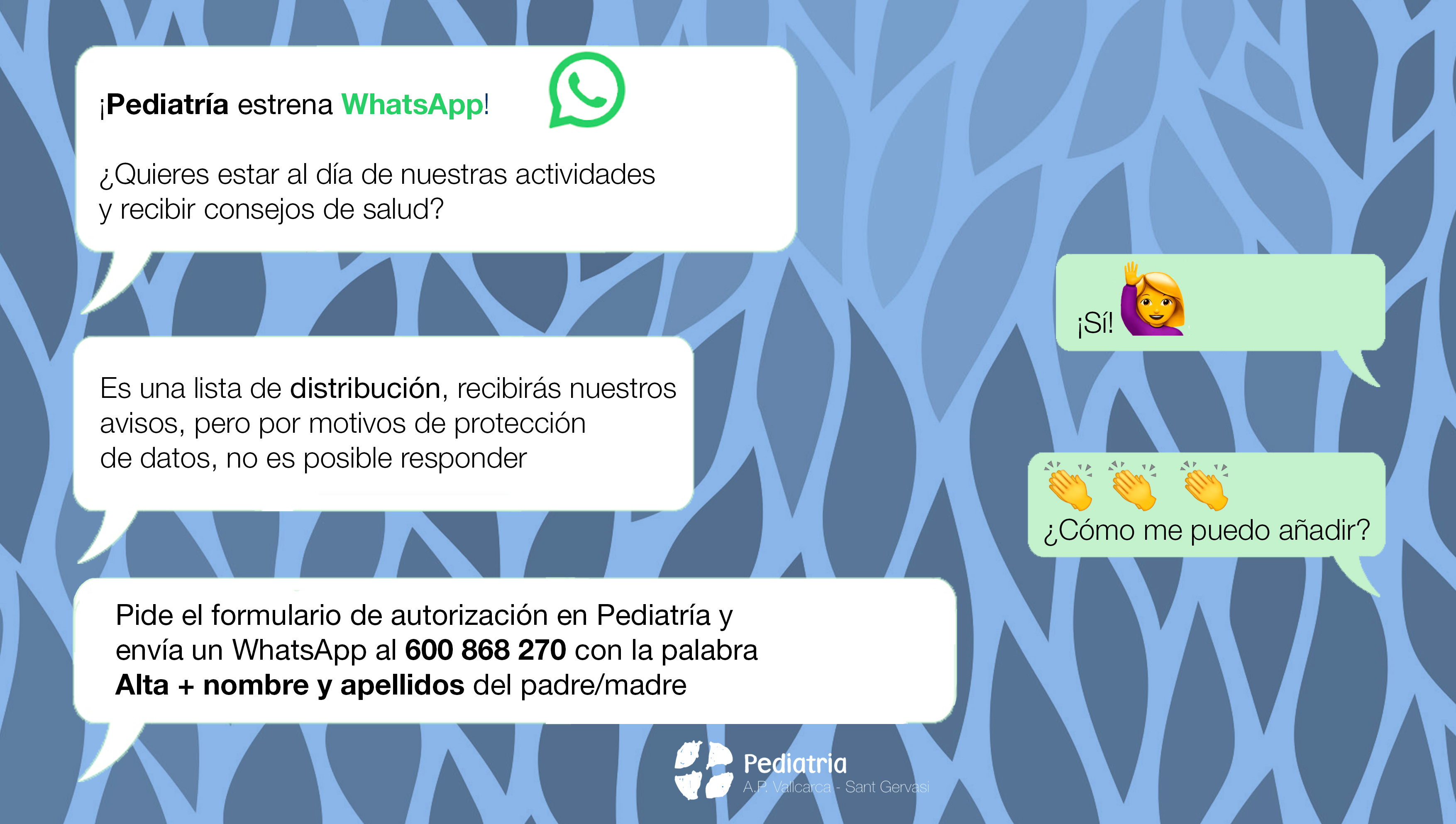WhatsApp Pediatría APVSG