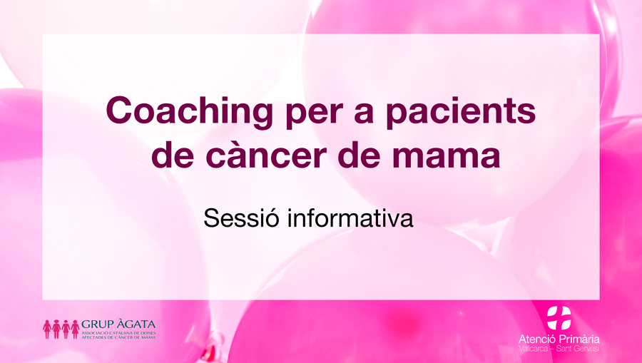 Coaching per a pacients amb càncer de mama - Atenció Primària Vallcarca-Sant Gervasi