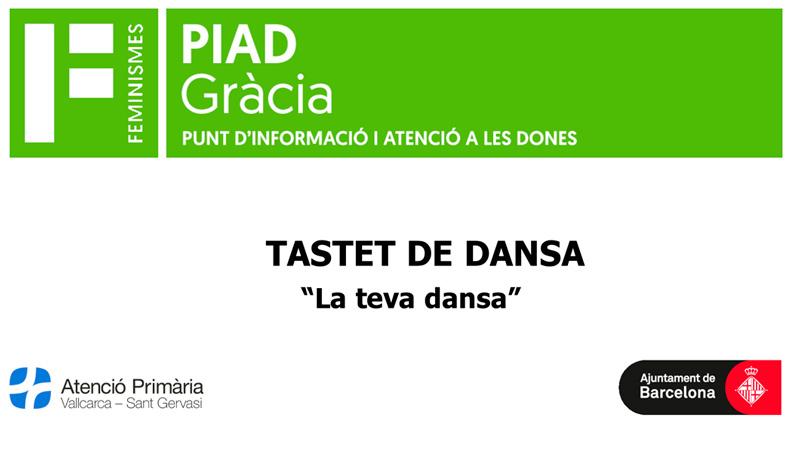 Tastet de dansa - Atenció Primària Vallcarca-Sant Gervasi