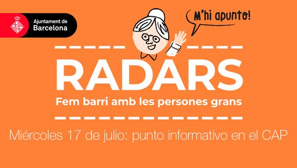 Punto informativo Radars - Atención Primaria Vallcarca-Sant Gervasi