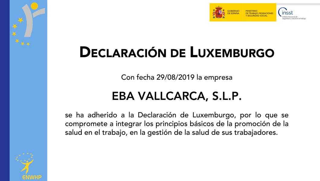 Adhesió a la declaració de Luxemburg - EBA Vallcarca