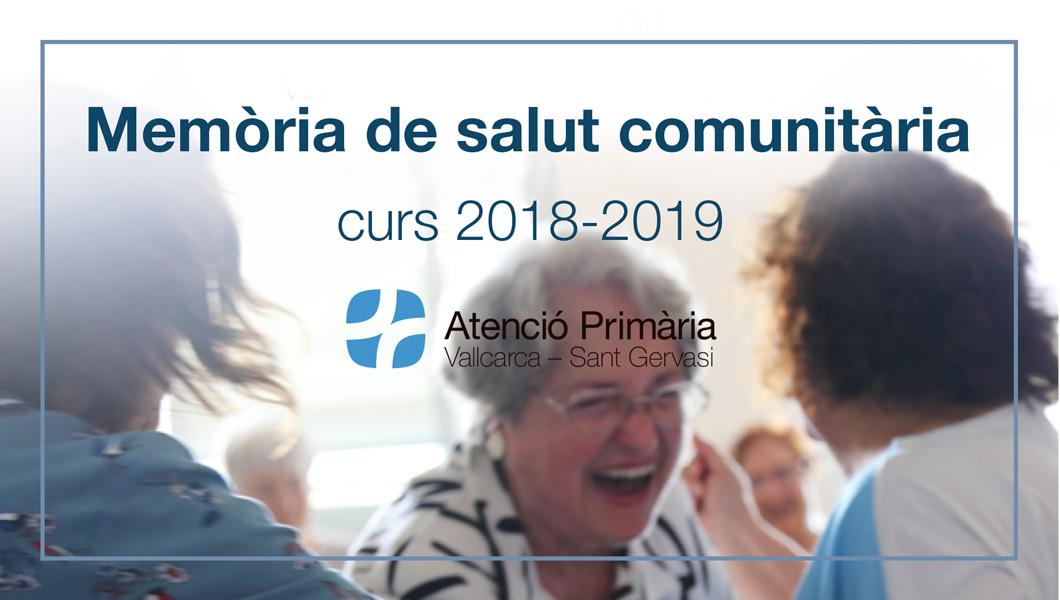 Memòria de salut comunitària EBA Vallcarca 2018-2019