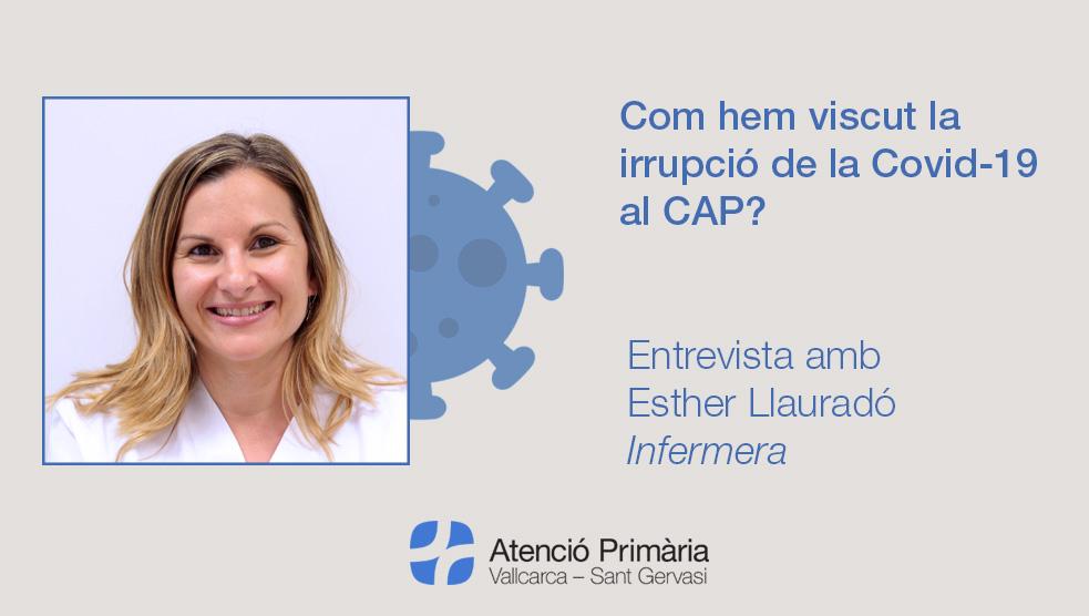 Entrevista amb Esther Llauradó - Atenció Primària Vallcarca-Sant Gervasi