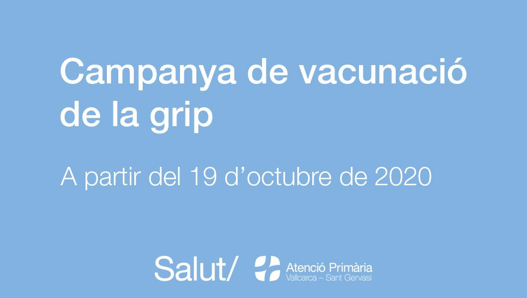 Campanya de vacunació de la grip 2020- Atenció Primària Vallcarca-Sant Gervasi