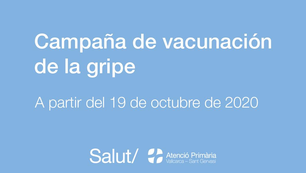 Campaña de vacunación de la gripe 2020 - Atención Primaria Vallcarca-Sant Gervasi