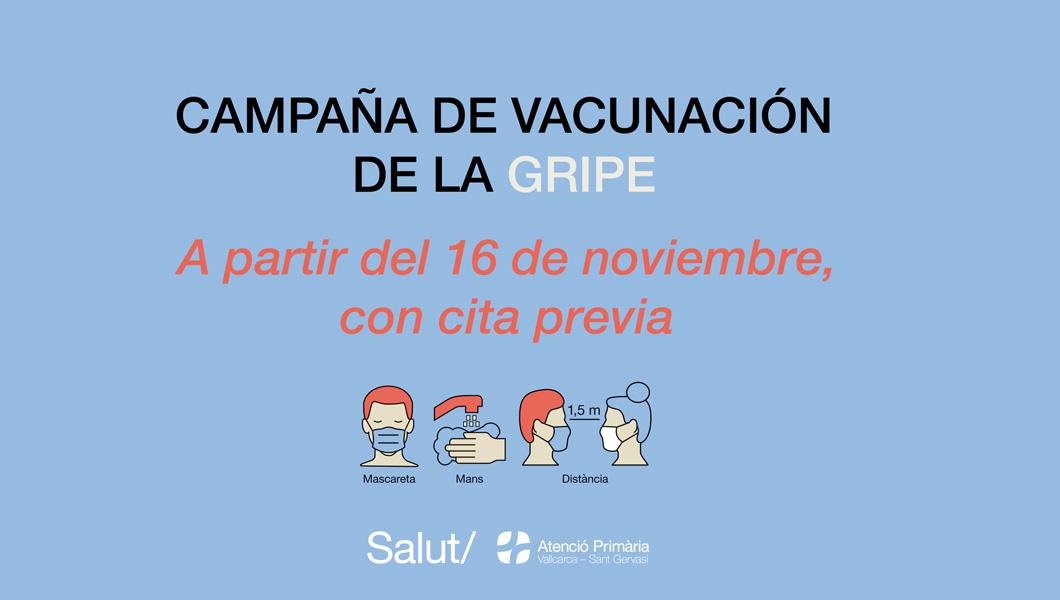 Campaña de vacunación de la gripe - Atención Primaria Vallcarca-Sant Gervasi