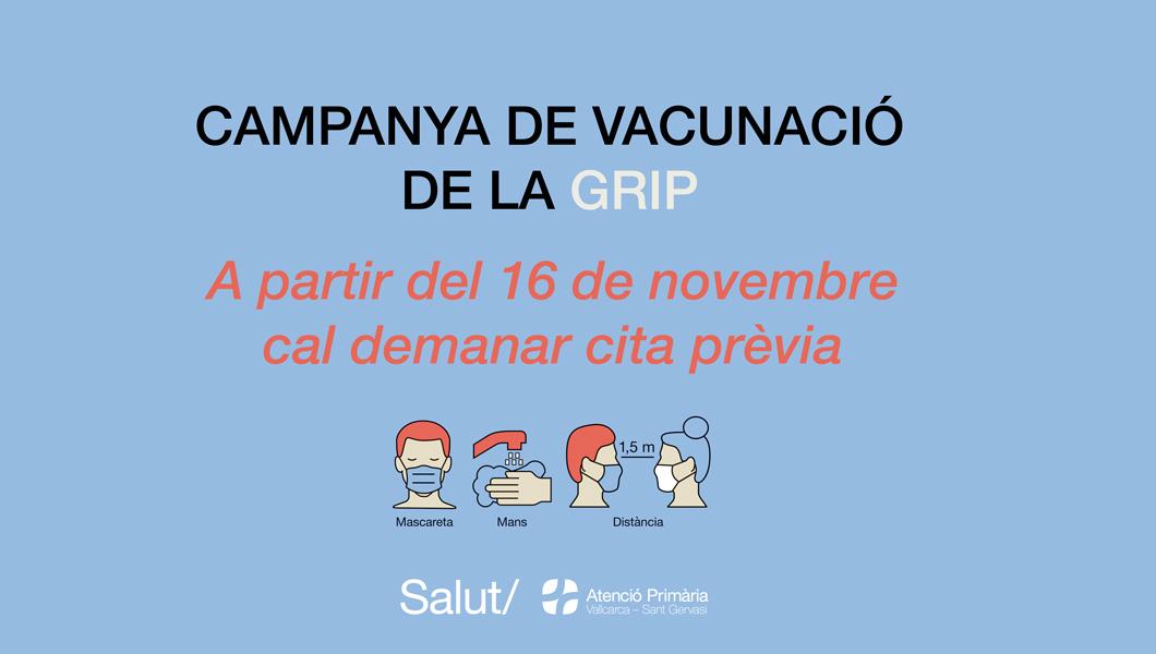 Campanya de vacunació de la grip - Atenció Primària Vallcarca-Sant Gervasi