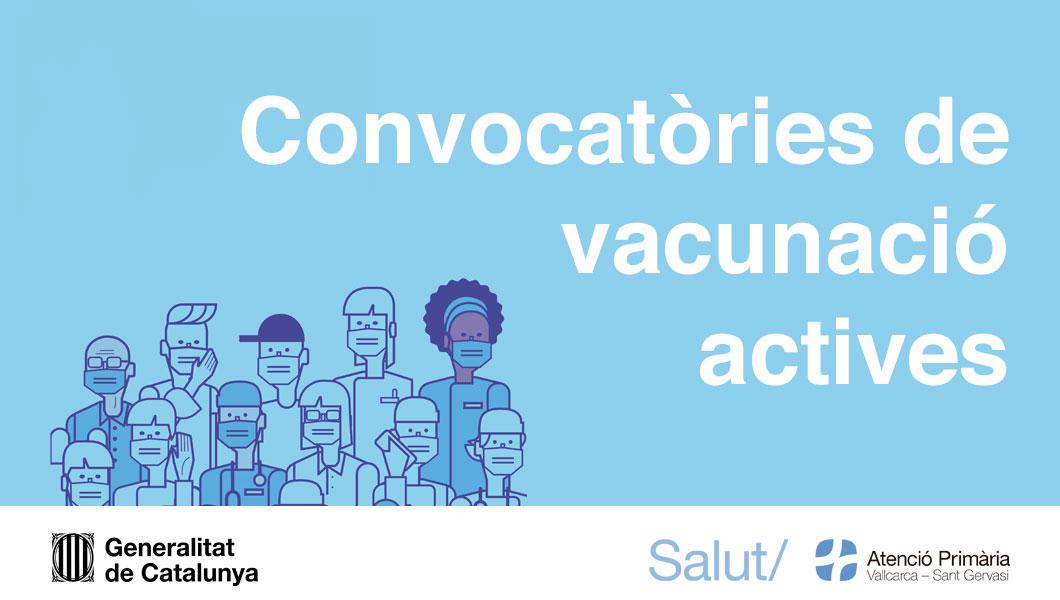 Convocatòries actives de vacunació de la Covid-19 - Atenció Primària Vallcarca-Sant Gervasi