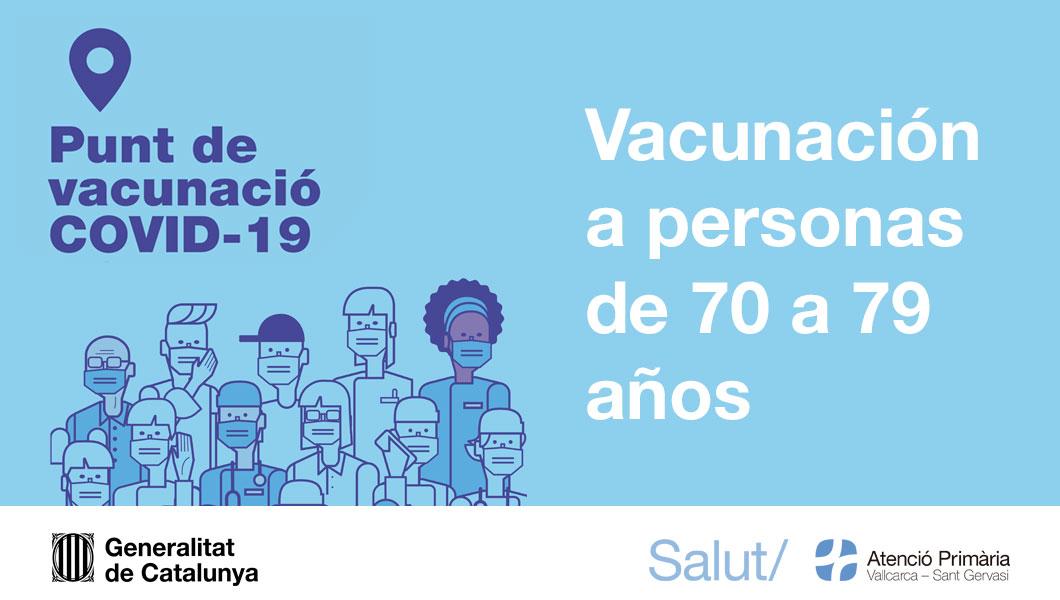 Vacunación mayores de 70 años - Atención Primaria Vallcarca-Sant Gervasi