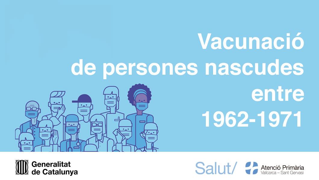 Vacunació de majors de 50 anys - Atenció Primària Vallcarca-Sant Gervasi