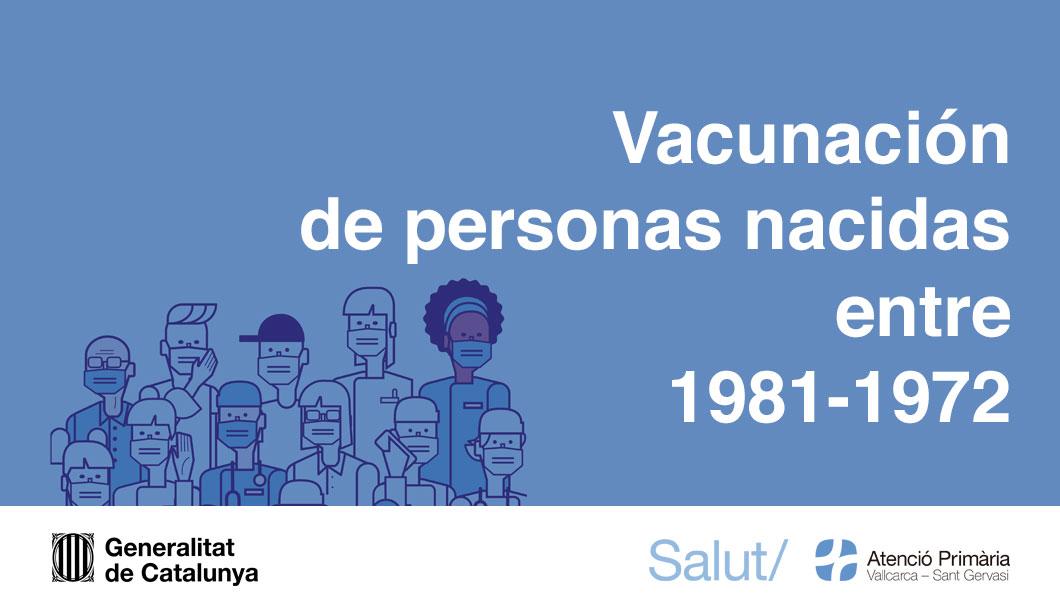 Vacunación de personas a partir de los 40 años - Atenció Primària Vallcarca-Sant Gervasi