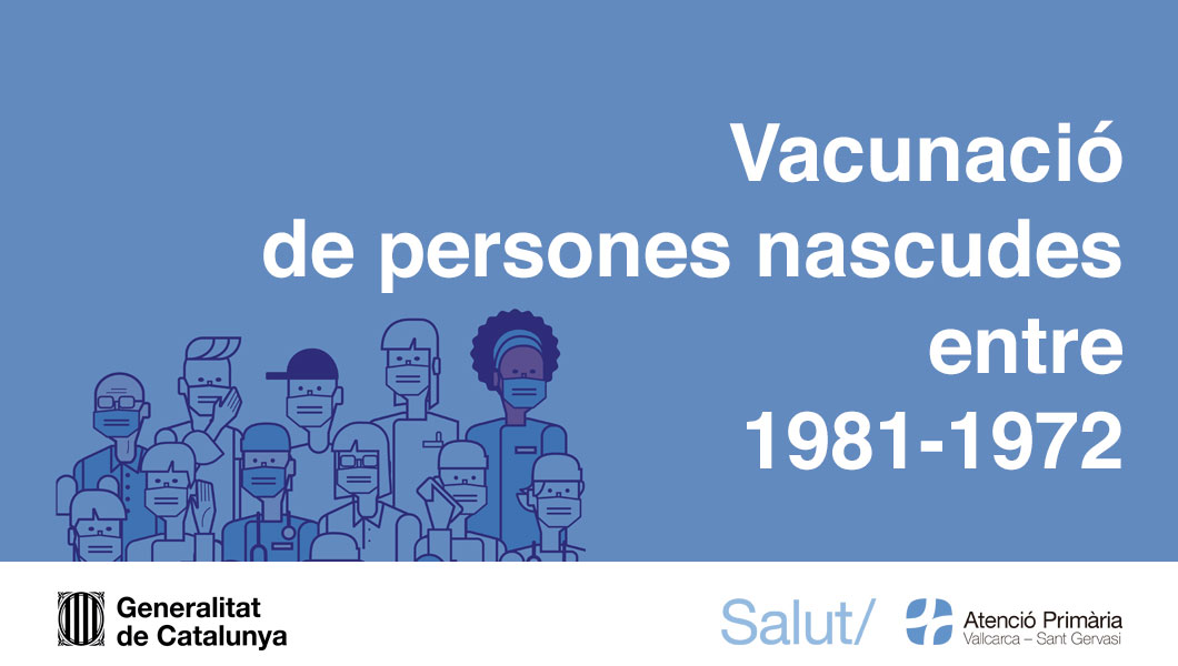 Vacunació de persones a partir dels 40 anys - Atenció Primària Vallcarca-Sant Gervasi