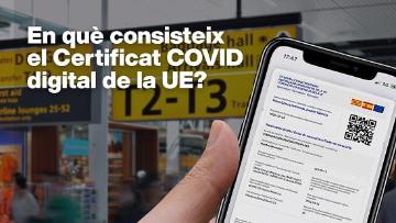 Certificat covid digital de la UE- Atenció Primària Vallcarca-Sant Gervasi