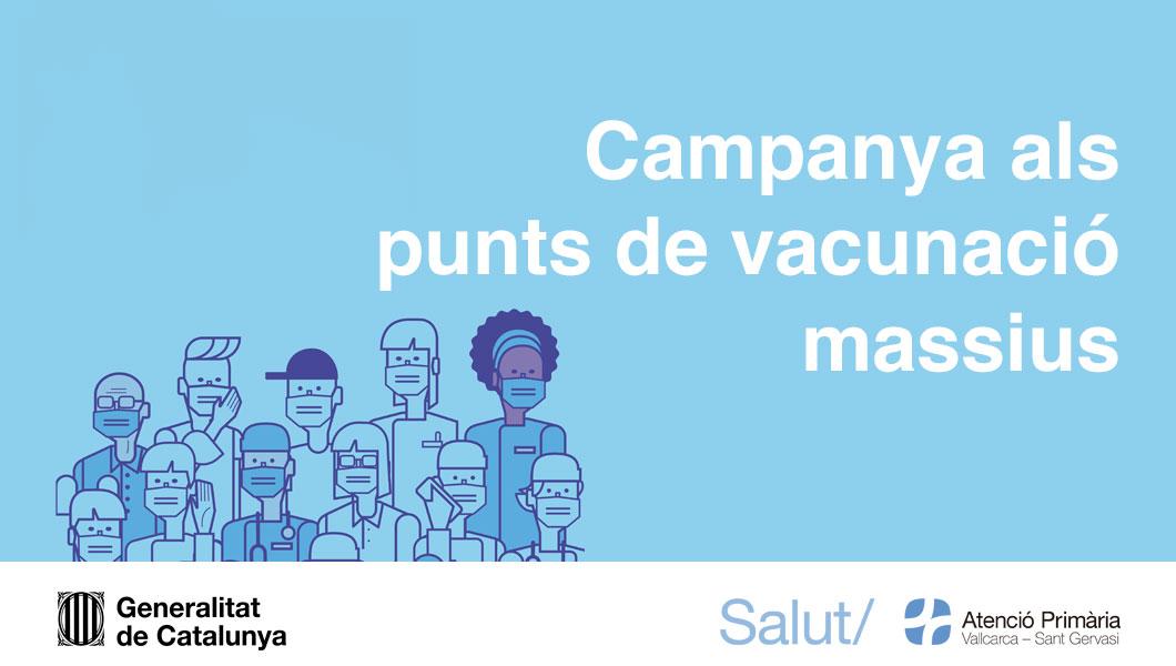 Vacunació als punts massius - Atenció Primària Vallcarca-Sant Gervasi