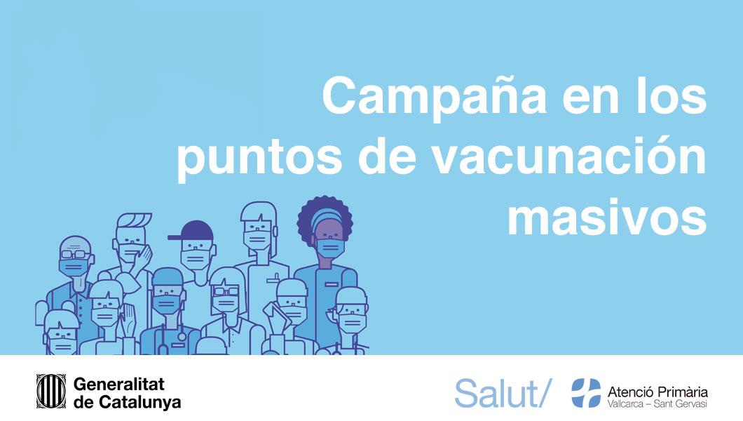 Vacunación en los puntos masivos - Atención Primaria Vallcarca-Sant Gervasi