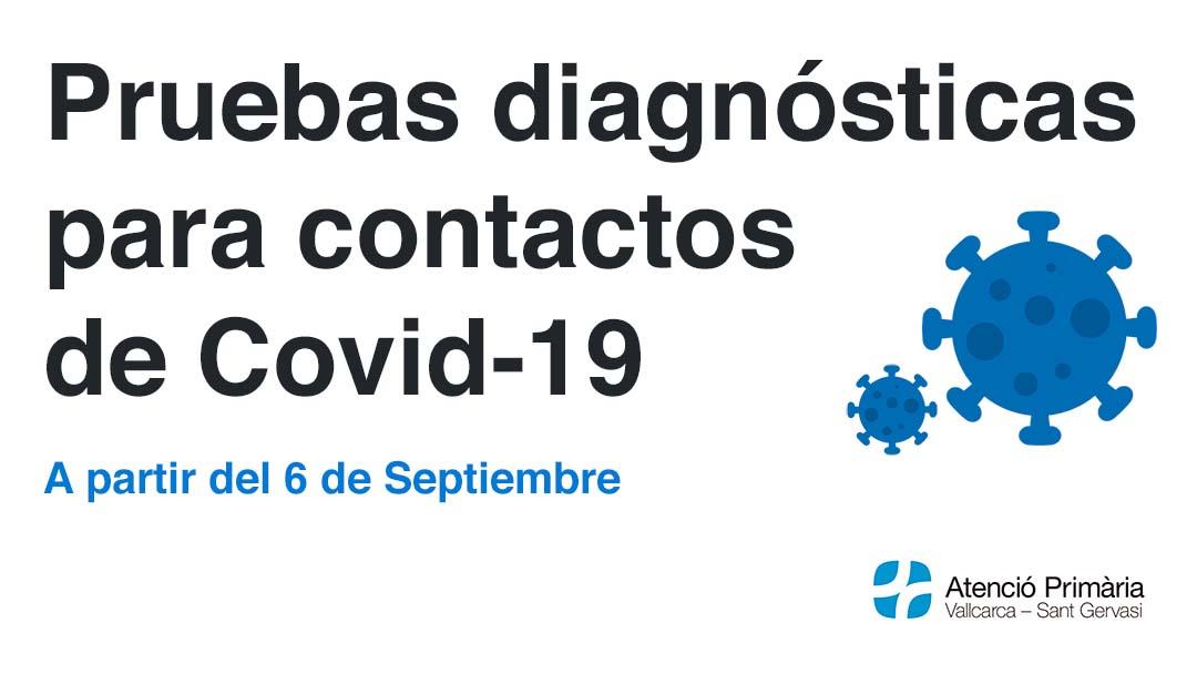 Prueba diagnostica para contactos